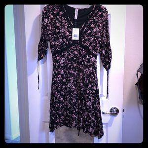 American Rag black floral dress Small